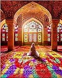 Carteles y grabados de mezquitas islámicas arte mural lienzo pintura decoración mural peregrino musulmán imagen sala de estar pared sin marco30x40cm