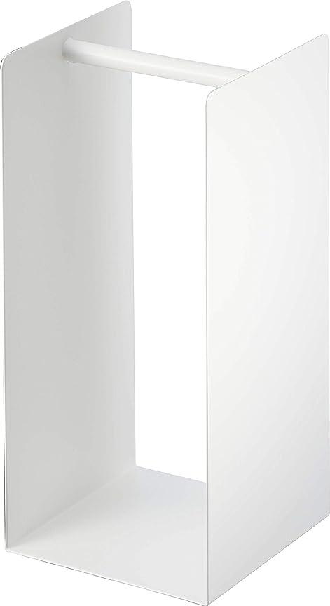 スパン悪因子無実山崎実業(Yamazaki) ランドリー収納 ホワイト 約W14.5XD14.5XH30cm プレート 4143