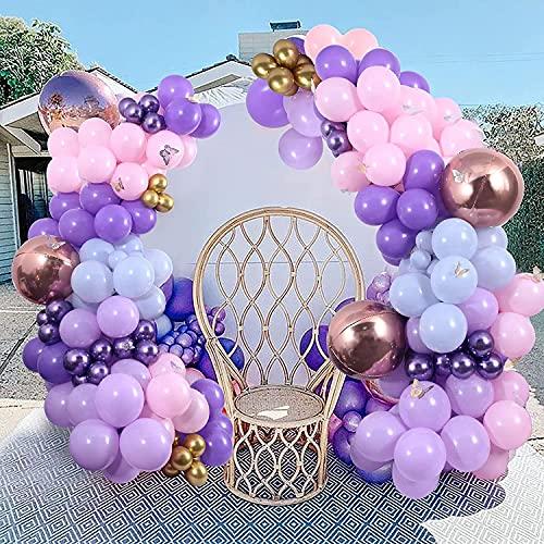161 Piezas Mariposa Púrpura Globos Guirnalda Arco Kit Mariposa Balloon Decoraciones Fiesta...