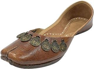 Step n Style Women Pure Leather Designer Pakistani Juti Punjabi Jutti Ethnic Mojari Handmade Shoes