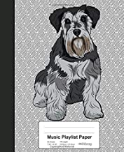 Music Playlist Paper: Book Miniature Schnauzer Dog (Weezag Music Playlist Paper Notebook)