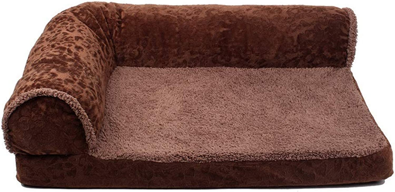 Gperw Pet Bed, Luxury Washable Cat Nest Dog Bed Soft Cushion With Backrest Non Slip Cushion Pad (color   C, Size   Medium)