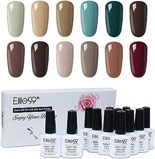 Elite99 Esmaltes Semipermanentes de Uñas en Gel UV LED 12 Colores Kit de Esmaltes de Uñas 004