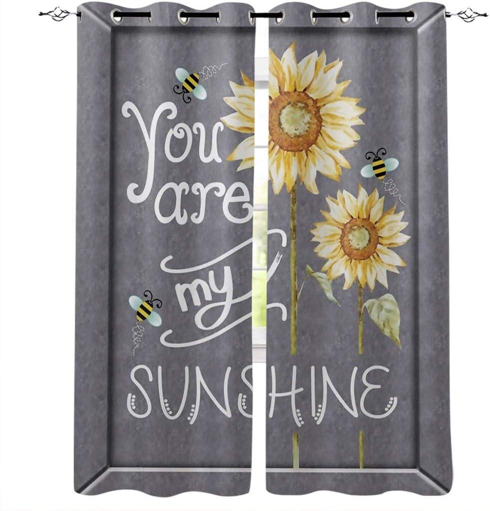 Edwiinsa You are My Sunshine 大人気 Sunflower Blackout Bees 海外輸入 Kitchen and