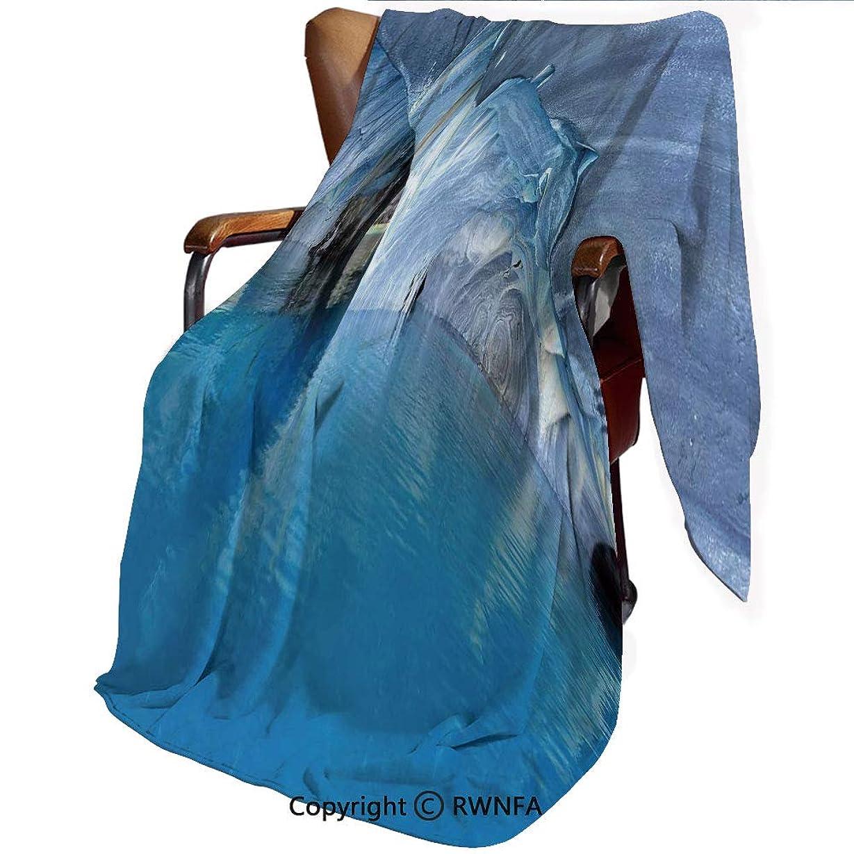 リス刈る公毛布 掛け毛布 シングル 大理石洞窟チリの一般的なカレラ湖自然の驚異岩紺Azureの水140*200cm 青 厚手 ブランケット 秋冬用 暖かい もうふ マイクロファイバー 襟付き 洗える ふわふわ 静電防止 青紫灰色白