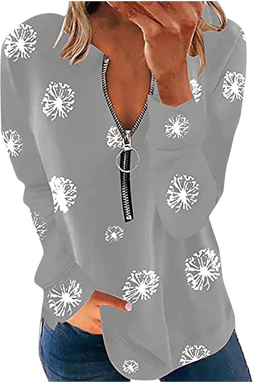 Women's Sweatshirts and Hoodies Haozin Zip Print depot Fashion Manufacturer OFFicial shop Casual