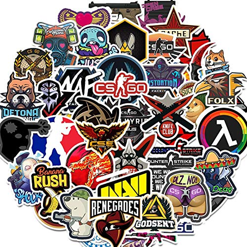 50PCS Lot CS GO Stickers Pack Motorcycle Anime Game Pegatinas For Boys Laptop Funny Graffiti Stickers Mix Retro Waterproof