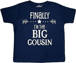 Finally I'm The Big Cousin Toddler T-Shirt