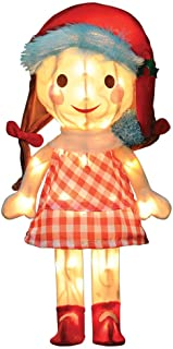 ProductWorks 18-Inch Pre-Lit Island of Misfit Toys Sally Doll Christmas Yard Decoration, 35 Lights