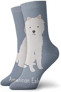 Kevin-Shop, Calcetines Tobilleros de Perro Esquimal Americano Lindo Calcetines Casuales y acogedores para Hombres, Mujeres, niños