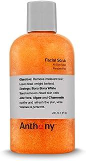 Anthony Facial Scrub, 8 Fl Oz, Contains Aloe Vera, Sand, Algae, Chamomile, Vitamin C, Soothes, Protects, Re...
