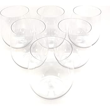 48 piece Stemless Unbreakable Crystal Clear Plastic Wine Glasses Set of 48 (12 Ounces)