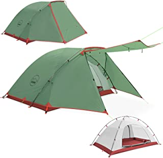 KAZOO 2 Person Camping Tent Outdoor Waterproof Family...