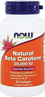 Now Foods - Beta Carotene (Natural) D. Salina with Mixed Carotenoids 25000 IU - 90 Softgels