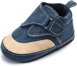 Lidiano Infant Toddler Baby Boy Toddler Dull Polish Soft Sole High Top Ankle Sneaker Shoes 0-18 Months (12-18 Months, Blue)