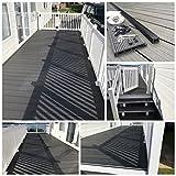 Terrasse de 50 m2, kit de planches pour terrasse en plastique et bois composite 3 m de long x 15 cm de large...