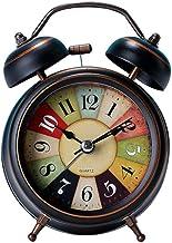 Alarm Clock Battery Operated Chambre à coucher Quartz Nightlight Design Twin Bell Table de chevet Réveil non tic-tac Haut-...