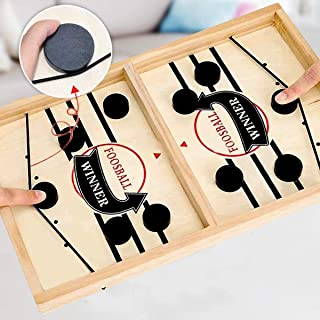 AirPlay Fast Sling Puck Game,Slingshot Games Toy,Table Desktop Battle 2 in 1 Ice Hockey Game, Winner Board Games for Kids ...