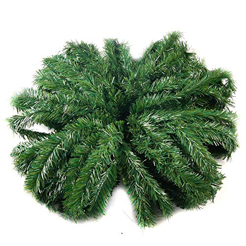 Joiedomi 50 Ft. Non-Lit Green Holiday Garland (1 Pack), Artificial Christmas Garland for Outdoor and Indoor Decorations