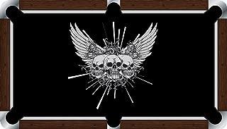 Pool Table Felt Billiard Cloth - VIVID - Winged Skulls