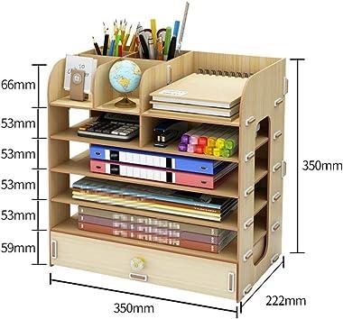 Bookcases Bookshelf Office Storage Box Desktop Sundries Storage Shelf Wooden Drawer Bookcase Storage Shelf Office Supplies St