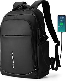 MARK RYDEN Mochila para portátil AntirroboMochila de Negocios Impermeable para Hombre Mochila Escolares con Puerto de USB para Ordenador 15.6 Pulgadas (Negro 3.0)