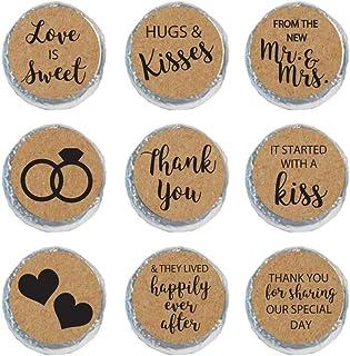 Mini Candy Stickers Wedding Favors Set of 324 (Kraft)