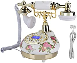 Junluck Retro Telephone - Antique Telephone FSK/DTMF Old Fashioned Landline Telephone Vintage Classic Rotary Dial Home Pho... photo