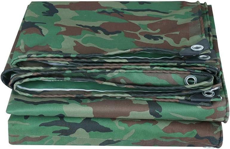 Poncho de camouflage bache de prougeection solaire imperméable de bache de PVC tissu de toile de toile extérieure ultra légère d'ombre de tente de jungle (Taille   6x10m)