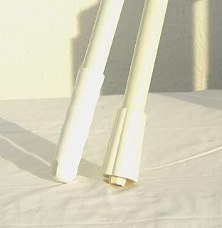 Green 1-1//2 Diameter Remco 6012 12 White Hazmat Fiberglass Handle with Threaded Tip 1-1//2 Diameter
