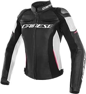 Dainese Racing 3 Perforated Womens Jacket Black/White/Fuchsia Pink 40 Euro