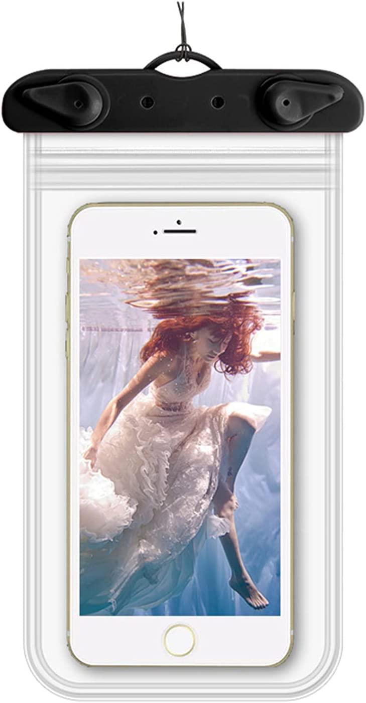 2 Pack Waterproof Phone Pouch Thick Clear Waterproof Case Universal Cellphone Dry Bag Transparent Mobile Phone Waterproof Bag Suit for Drift Diving Swimming