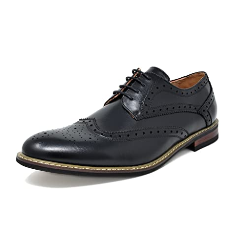 8f10947e20d1 DREAM PAIRS Bruno Marc Moda Italy Men s Prince Classic Modern Oxford Wingtip  Lace Dress Shoes