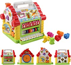 iuockg Kids' House Shape Musical Activity Cube Toy Development Educational Game Play Learning Center Toy with Shape Sorter