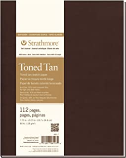 """Strathmore 400 Series Softcover Toned Tan Art Sketch Journal, 7.75""""x9.75"""", 56 Sheets"""