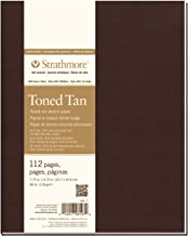 "Strathmore 481-7 400 Series Softcover Toned Tan Art Sketch Journal, 7.75""x9.75"", 56 Sheets"