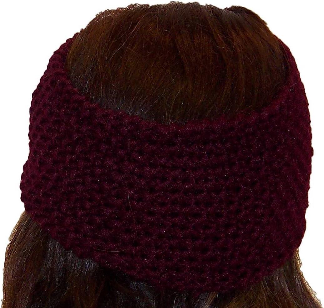 Best Winter Hats Adult Crochet Bow Knot Headband/Ear Warmer (One Size)