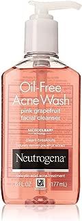 Neutrogena Oil-Free Acne Wash Face Cleanser, Pink Grapefruit 6 oz (5 Pack)