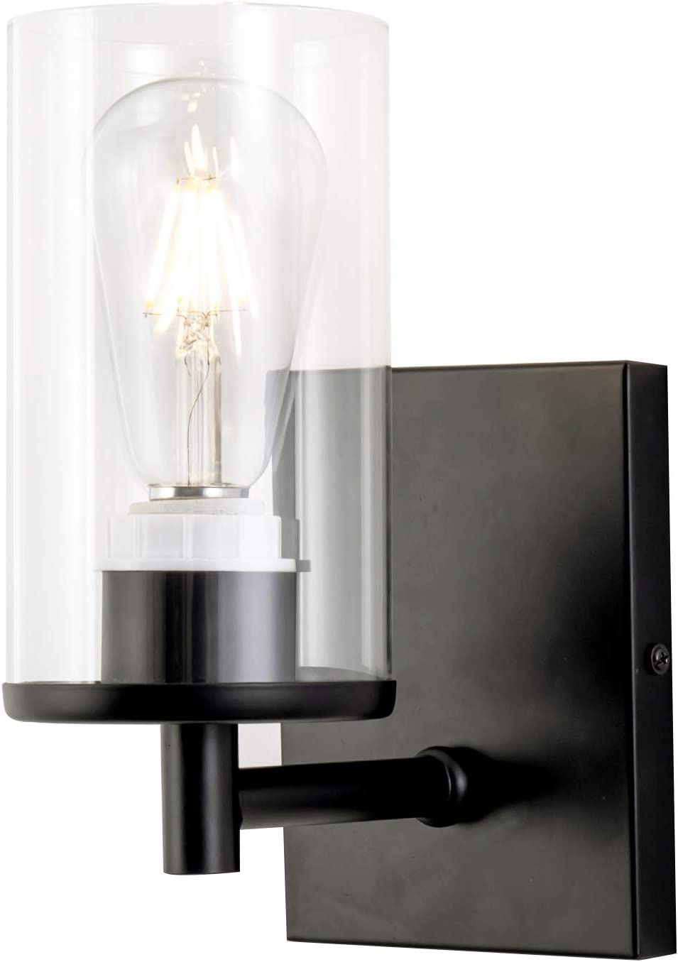 Passica Clear Glass Modern Wall Light Retro Vintage Sconce Wall Lamp Indoor Lvingroom