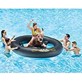 "Pool Adult Inflat-A-Bull with Pump, Mechanical Inflatable Lake River Beach Floaties Floats Ride On Toy, 96"" X 77"" X 32"" Bundle of 2"