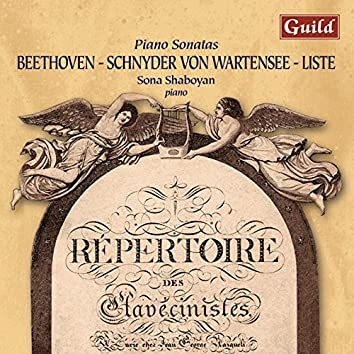 Beethoven: Piano Sonata No. 17 in D Minor - Schnyder Von Wartensee: Piano Sonata in C Major - Liste: Grande Sonata for Piano in a Major