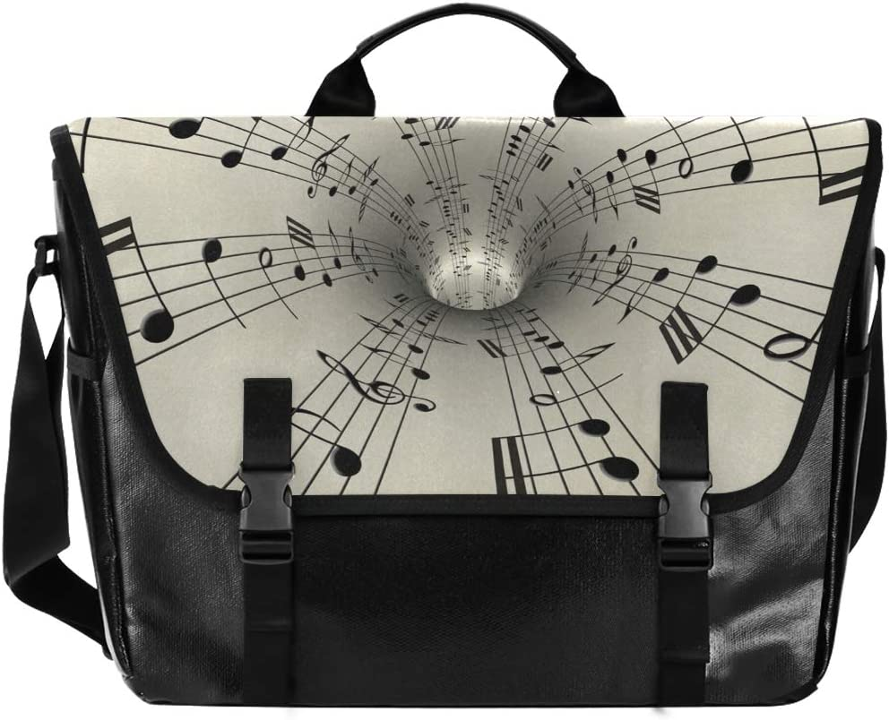 Music Branded goods Notes Unisex Casual Canvas Waterproof Ba Satchel Messenger free shipping