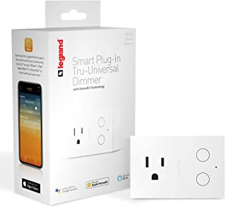 Legrand-On-Q Smart Plug Outlet Switch Dimmer, WiFi, Works with Apple HomeKit, Alexa & Google Assistant, No Wiring Required, iOS only, White, HKRP20