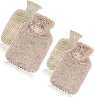 湯たんぽ 注水式 SELF START ゆたんぽ ニットカバー付き2個セット 合計容量1600ml 暖かい お湯入れ 洗える 誕生日 クリスマス プレゼント ギフト 贈り物として最適