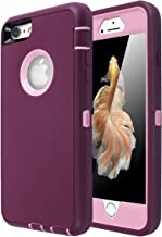 iPhone 6 Case, iPhone 6S Case [Heavy Duty] AICase Built-in Screen Protector Tough 3 in 1 Rugged Shorkproof Cover for Apple iPhone 6/6S (Pink/Purple)
