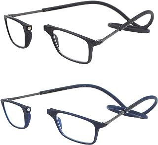 9a5016b127 Pack de 2 gafas de lectura plegables por delante y ampliables para mujeres y  hombres que