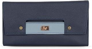 Baggit Spring-Summer 2020 Faux Leather Women's 3 Fold Wallet (Blue) (Lw Beamy)