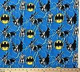 Batman-Stoff von The The 1/4 Yard Fat Quarter blau