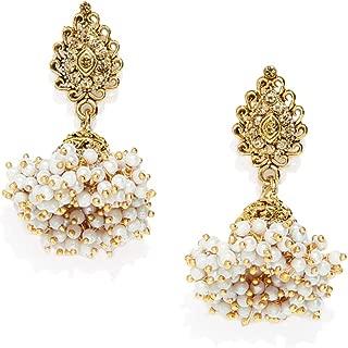 Zaveri Pearls Ethnic Jhumki Earrings for Women (Golden) (ZPFK7450)