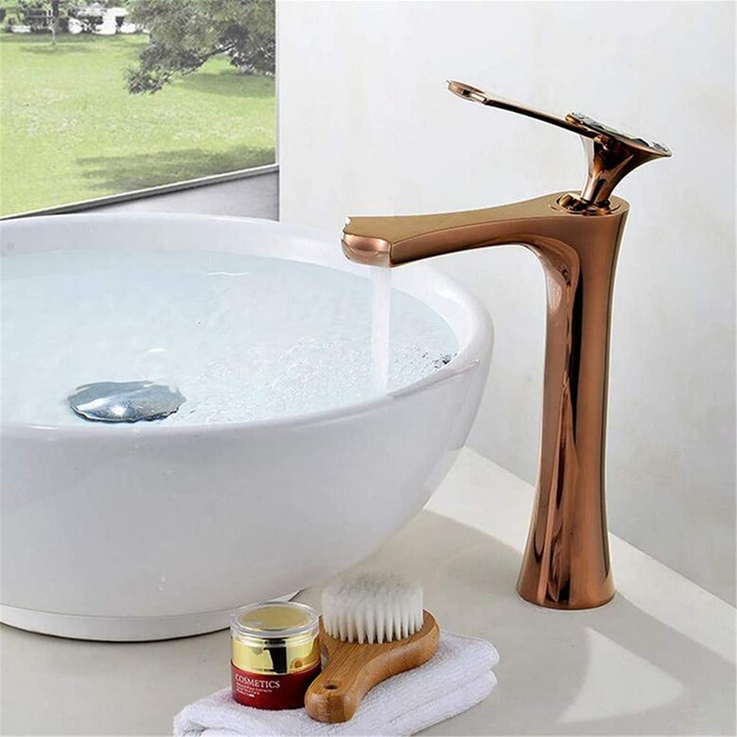 Faucet Chrome Brass Retro Single Single Cold Water Tap with Vegetables Basin Faucet Kitchen Faucet